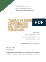 CONFORMACIÓN  DEL TERRITORIO VENEZOLANO
