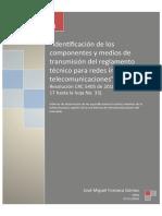Identificación de los componentes y medios de transmisión del RITEL