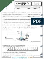 Examen de TP N°3 - Physique - 2ème Sciences (2012-2013) Mr Galaî Abdelhamid