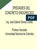 PROPIEDADES DEL CONCRETO ENDURECIDO