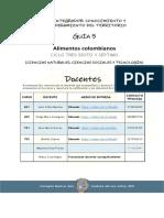 Guía 5 Alimentos Colombianos