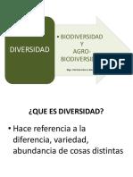 Biodiversidas y Agrobiodiversidad