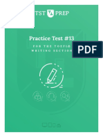 TST Prep Test #13, The Writing Section