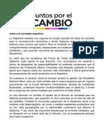 Juntos Por El Cambio respondió la carta de los senadores oficialistas al FMI