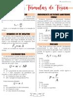 Principais Fórmulas de Física