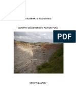 Aggregate industries quarry geodiversity action plan _ Croft Quarry, England