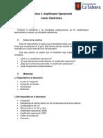 Práctica 3. Amplificadores Operacionales