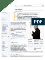 Alasdair MacIntyre – Wikipédia, a enciclopédia livre
