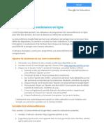 Guide d'utilisation pour programmer les soutenances en ligne