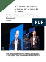 Yuval Harari e  inteligência artificial HSM