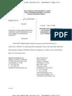 PENFORD PRODUCTS CO. et al v. NATIONAL UNION FIRE INSURANCE CO. et al Motion for Judgment