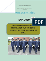 NOTE DE SYNTHESE (1)