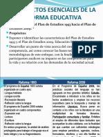 Aspectos esenciales de la reforma educativa