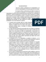 Declaración Pública Ley Independientes
