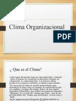 Clima organizacional ppt