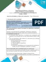 Guia de actividades y Rúbrica de evaluación Fase 4 Elaboración
