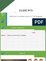 clase 3 lenguaje 4to básico