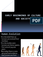 Early Beginnings Of Culture and Society ppt