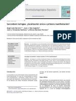 Sarcoidosis laríngea- ¿localización única o primera manifestación? ledebarreiro2012