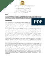 RESOLUCION 020 CEU UNMSM 2020 Tacha Contra Aliaga Jaime Presentada Por Atalaya Pisco