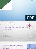 MCQS On Local Anesthetics, Diuretics