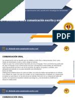 2.1. Distinción entre comunicación escrita y oral