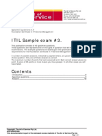 ITIL Foundation Mock Exam Questions40b