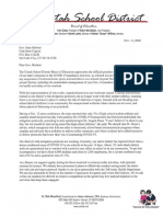 Uintah School District letter to Gov. Herbert