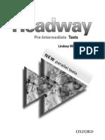 New Headway - Pre-Intermediate Test Booklet.pdf