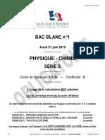 TS - BAC Blanc n°1 - Obligatoire