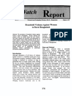 Household violence against woman in rural Bangladesh