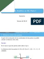 Geometría analítica en 2D. Parte I - Semana del 06-10 - 4M - Preston