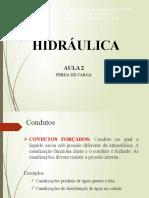 AULA 2 - PERDA DE CARGA