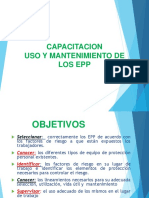 CAPACITACION USO Y MANTENIMIENTO DE EPP