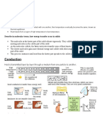 Notes Transfer of thermal Energy