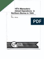 Merrill's Marauders, Combined Operations in Northern Burma in 1944