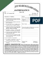 Maths GTSE 2018-19 Sample Paper class III