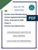 INFORME LABORATORIO DE FISICA 2DA LEY DE NEWTON (1)