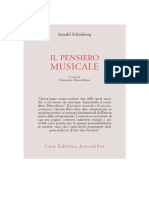 Arnold Schonberg Il Pensiero Musicale A