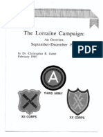 The Lorraine Campaign an Overview, September-December 1944
