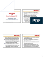 Data Quality and Error Analysis in GIS