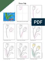 como desenhar tulipa