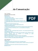 Ciências Da Comunicação - 1ºAno