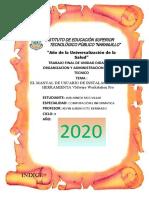 EL MANUAL DE USUARIO DE INSTALACIÓN DE LA HERRAMIENTA VMWARE.docx