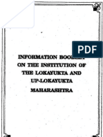 Information Booklet On the institutions of the Lokayukta and Up-lokayukta - Maharashtra