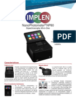 Nanofotometro NP80 Caracteristicas