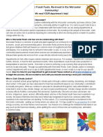 department one-pager for community cooperation campaign
