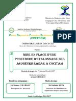 PFE-CHIGBLO_MISE EN PLACE D'UNE PROCEDURE D'ETALONNAGE DES JAUGEURS RADAR A COCITAM