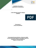 Organización y presentación.  ESTADISTICA