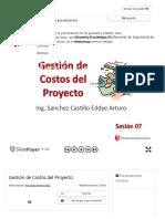 Gestión de Costos del Proyecto - ppt descargar